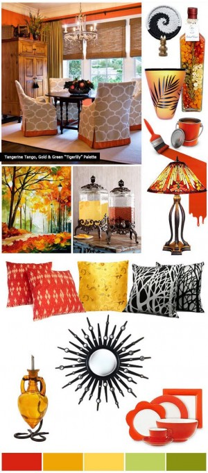 How to use Tangerine Tango for a Fresh New Look in Home Decorating